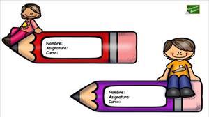 Etiquetas para libros y cuadernos con dibujos