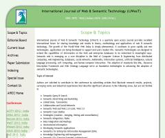 International Journal of Web & Semantic Technology (IJWesT)