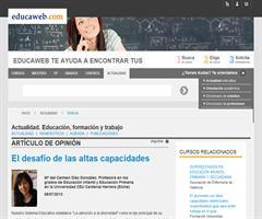 El desafío de las altas capacidades | Mª del Carmen Díez (Educaweb.com)
