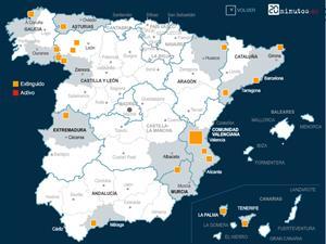 Grandes incendios forestales en España durante 2012