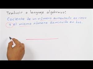 Traducir lenguaje común a algebraico│ejercicio 2