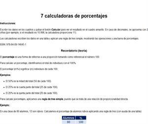 Calculadoras de porcentajes