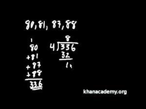 Problemas de Promedios (Khan Academy Español)
