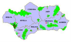 Espacios naturales de Andalucía