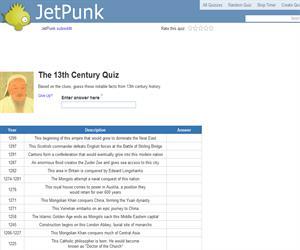The 13th Century Quiz