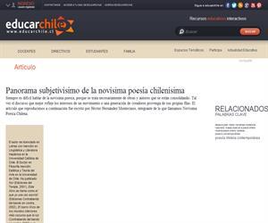 Panorama subjetivísimo de la novísima poesía chilenísima (Educarchile)