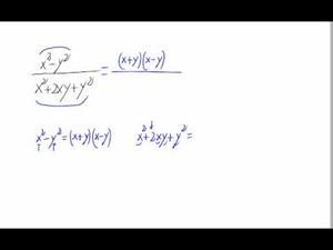 Simplificación de una fracción algebraica