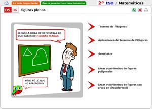 Figuras planas. Autoevaluación. Matemáticas para 2º de Secundaria