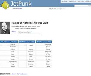 Names of Historical Figures Quiz