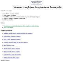 Calculadora online: formas polar y binómica de números imaginarios