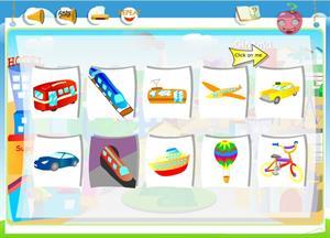 Transports (On the Street III): comprensión de inglés para 3º de Primaria