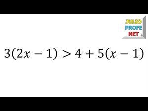 Solución de una desigualdad lineal (JulioProfe)