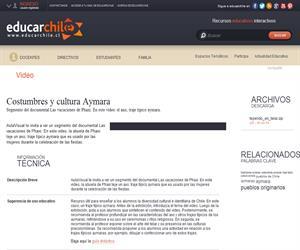 Costumbres y cultura Aymara (Educarchile)