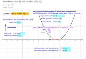 Estudio gráfico de una función