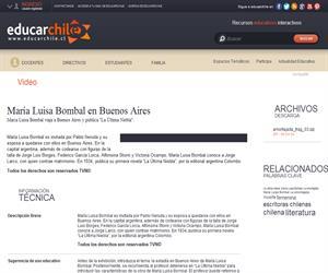 María Luisa Bombal en Buenos Aires (Educarchile)