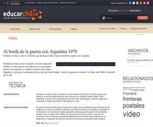 Al borde de la guerra con Argentina 1978 (Educarchile)