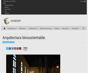 Arquitectura sostenible o biosustentable