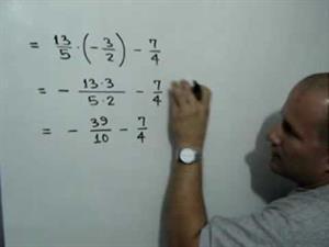 Evaluar una expresión usando fraccionarios (JulioProfe)
