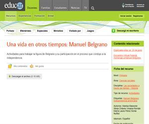 Una vida en otros tiempos: Manuel Belgrano