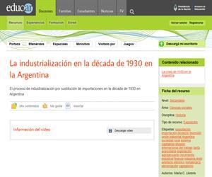 La industrialización en la década de 1930 en la Argentina