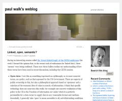 Linked, open, semantic? - Paul Walk's weblog