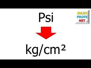 Convertir unidades de presión: de Psi a kg/cm²