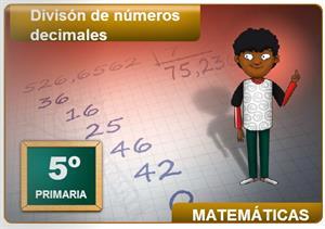División de números decimales (Cuadernia)