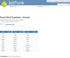 French Word Translation - Animals