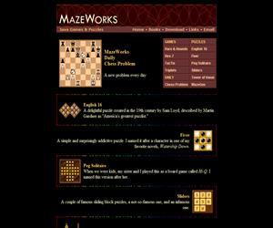 MazeWorks. El ajedrez y otros juegos de inteligencia en inglés