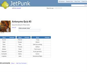 Antonyms Quiz 3