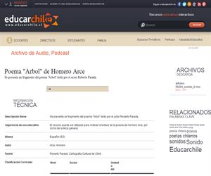 "Poema ""Árbol"" de Homero Arce (Educarchile)"