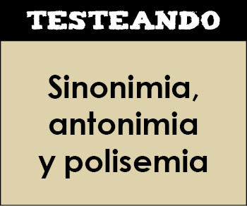 Sinonimia, antonimia y polisemia. 2º Primaria - Lengua (Testeando)
