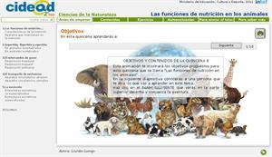 Las funciones de nutrición en los animales (cidead)