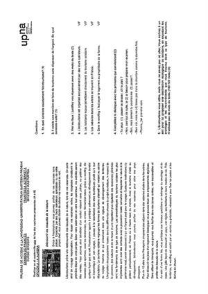 Examen de Selectividad: Francés. Navarra. Convocatoria Julio 2013