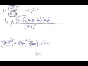 Derivada - Cociente de potencia de trigon. partido polinomio