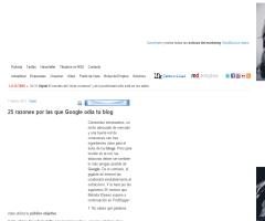 25 razones por las que Google odia tu blog : Marketing Directo