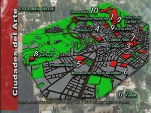 Granada. Mapa interactivo