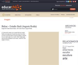 Balzac - Estudio final (Auguste Rodin) (Educarchile)