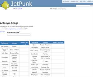 Antonym Songs