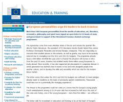 European personalities urge EU leaders to back Erasmus | European Commission