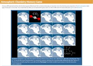 Atmospheric Chemistry Memory Game