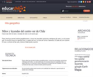 Mitos y leyendas del centro sur de Chile (Educarchile)