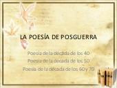 La poesía española de posguerra