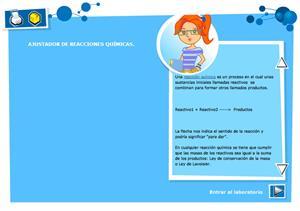 Ajustador de reacciones químicas. Física y Química para Secundaria