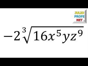 Simplificación de una raíz (JulioProfe)