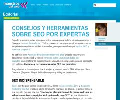 Consejos y herramientas sobre SEO por expertas | Maestros del Web