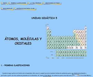 Átomos, moléculas y cristales