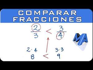 Cómo comparar dos fracciones | Mayor Menor o Igual