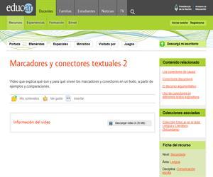 Marcadores y conectores textuales 2