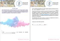 Declaración responsable para la participación en la XV edición del Premio Espiral (2021)